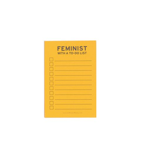 Feminist To-Do List Notepad