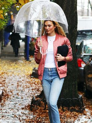 Shopping PSA: Karlie Kloss's Silky Bomber Jacket Is Under $100