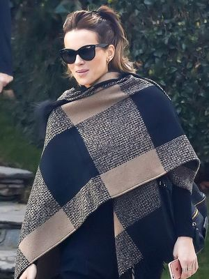 Kate Beckinsale Makes a Case for the Blanket Coat