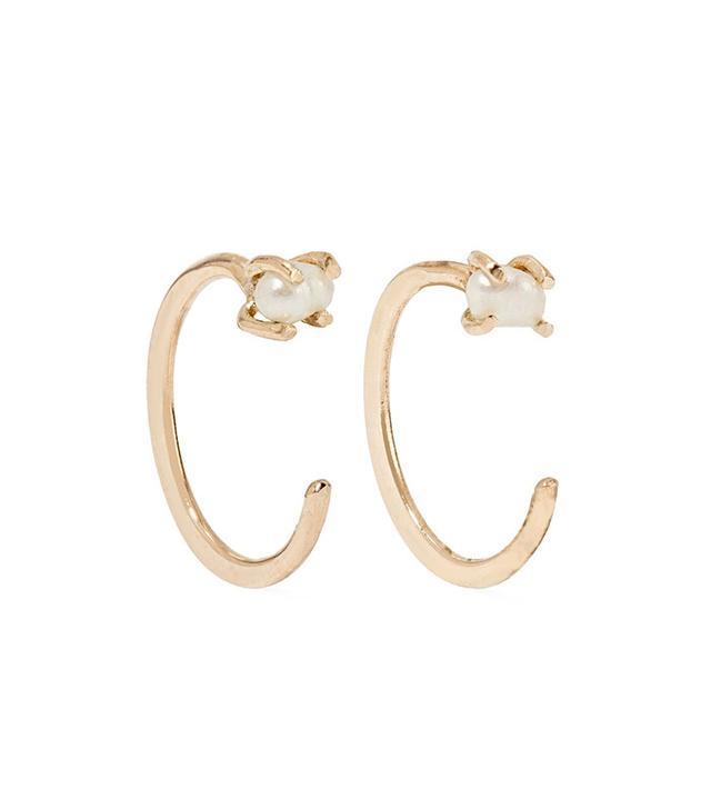 Melissa Joy Manning 14-Karat Gold Pearl Earrings