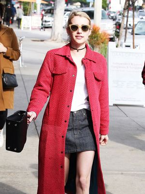 Emma Roberts Just Wore the Chicest Blue Suede Shoes