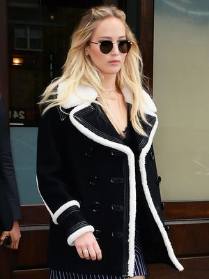 Jennifer Lawrence's Take on Tights Season Is Incredibly Chic