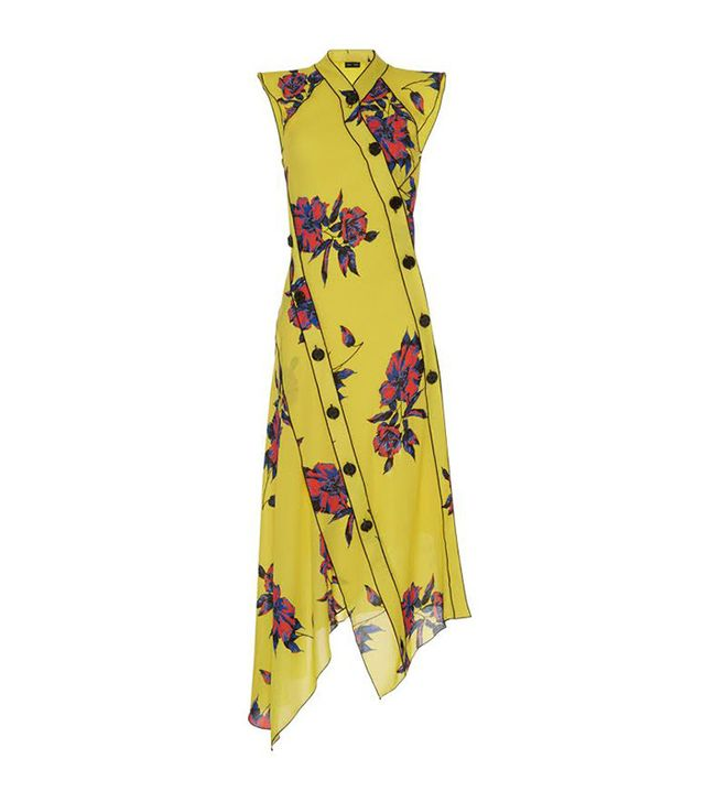 Proenza Schouler Asymmetrical Floral Dress