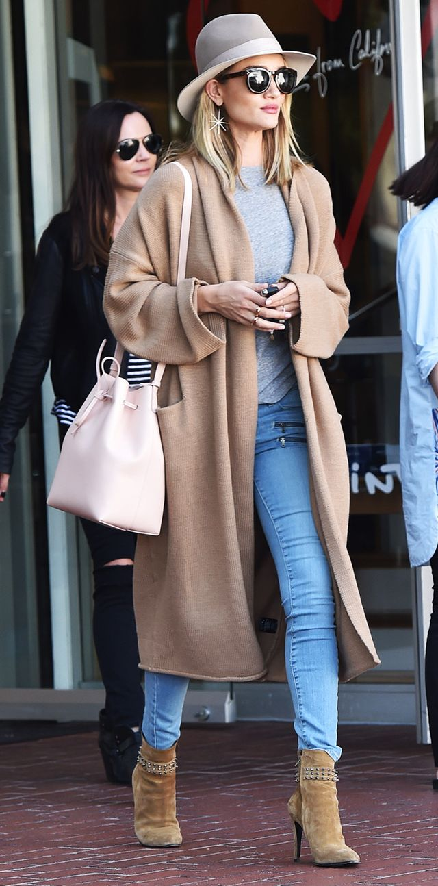 Rosie Huntington-Whiteley shopping at Fred Segal in West Hollywood