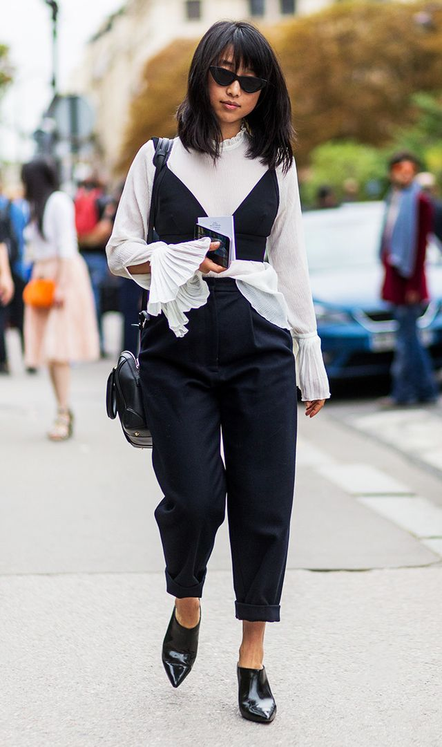Margaret Zhang outside Chloe on September 29, 2016 in Paris, France.