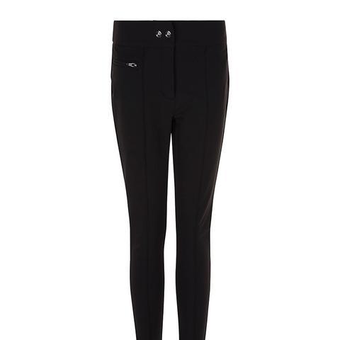 Black Allure Stirrup Ski Pants