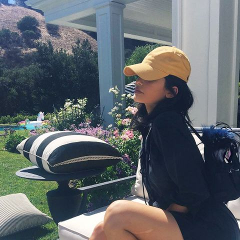 Kylie Jenner celebrity style: silver trainers