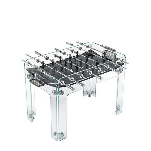 Crystal Foosball Table With Black Field by Teckell