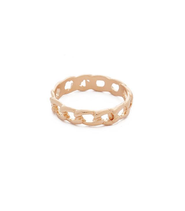 Shashi Chain Midi Pinky Ring