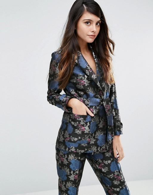 ASOS Kimono Blazer In Jacquard