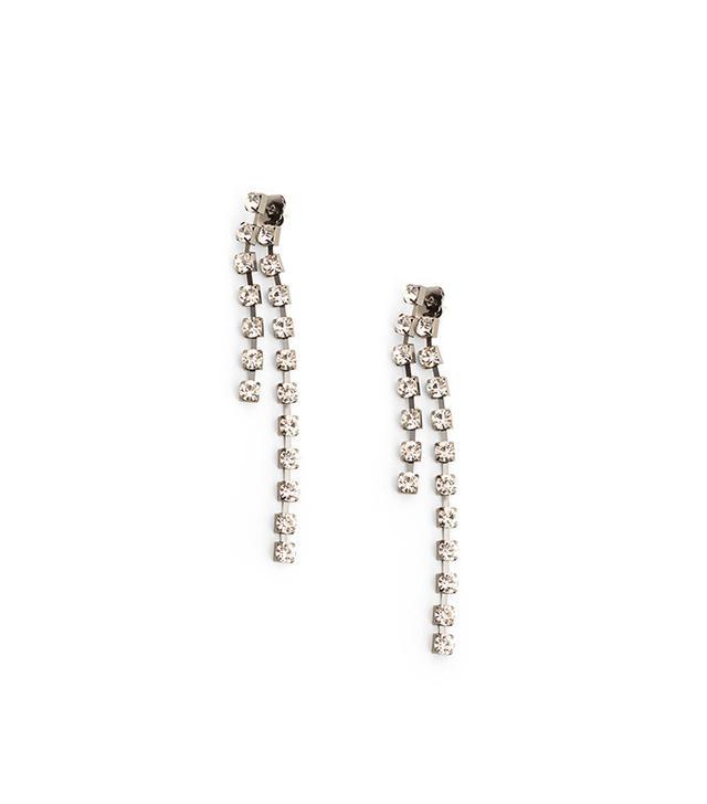 Mango Crystal Pendant Earrings