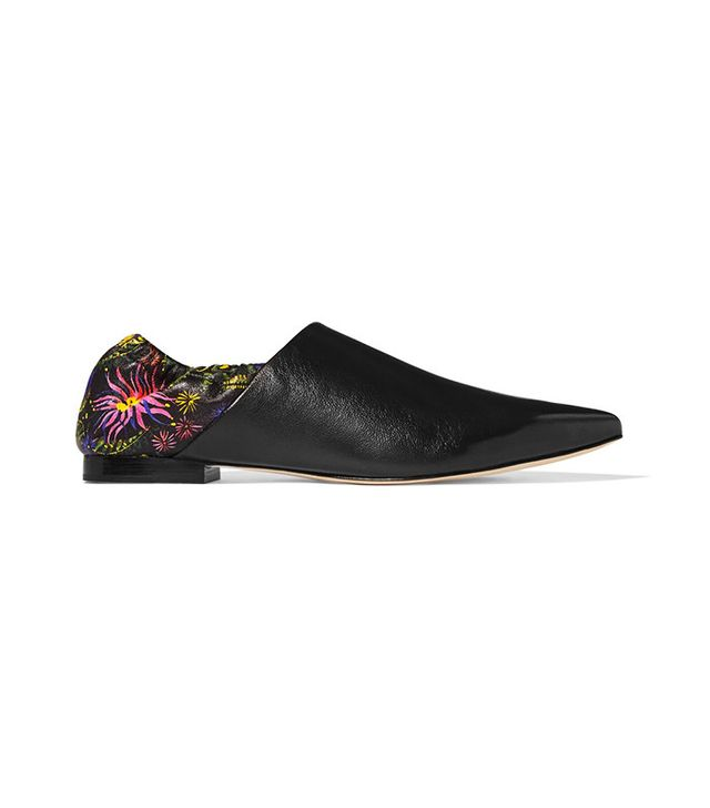 3.1 Phillip Lim Babouche Floral-Print Leather Slippers