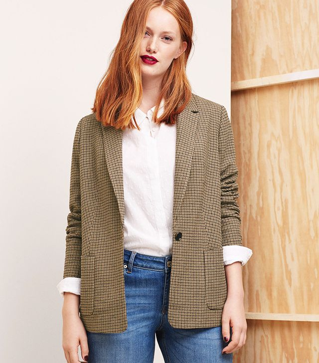 Violeta Check Suit Blazer