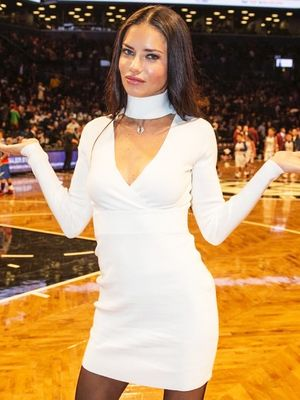 Adriana Lima's Boots Are Unexpectedly Perfect for a Basketball Game