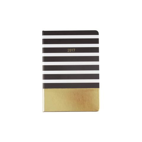 2017 Diary - A5, Gold & Stripes