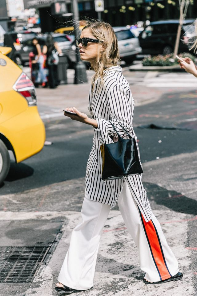 So it turns out everything you've heard about stripes actually rings true. Vertical stripes = yes. Horizontal stripes = not so slimming. The long lines will help give the illusion of a longer,...