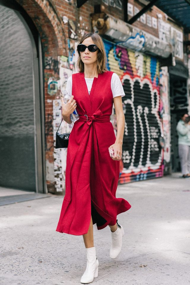 You've heard this one a thousand times before, but it doesn't hurt to put the reminder out there once more. By drawing attention to your waist with a belt, or wrap dress, you can 'fake' a slimmer...
