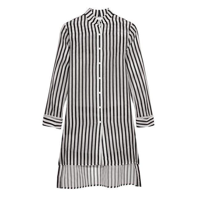 Rosie Assoulin Striped Silk Shirt