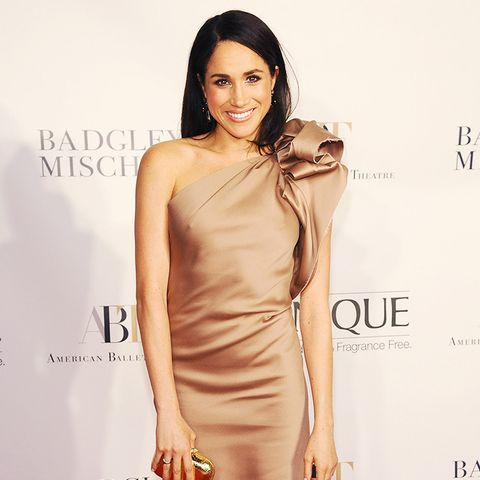 Meghan Markle style: The actress sticks to classic styles like the nude dress