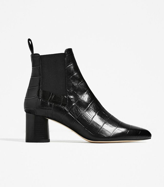 Zara Embossed Ankle Boots