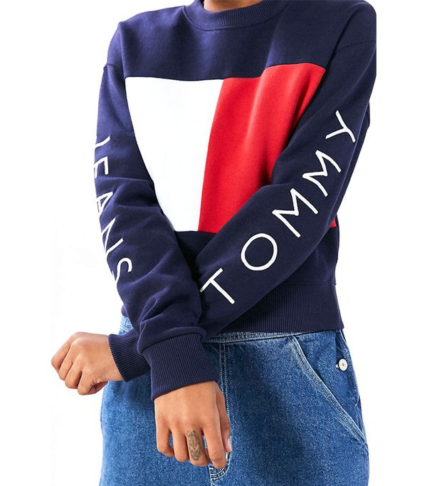 Tommy Jeans for UO '90s Colorblock Pullover Sweatshirt