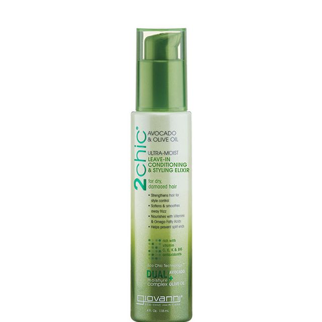 Avocado oil: Giovanni 2chic avocado and olive oil leave-in conditioning & styling elixir