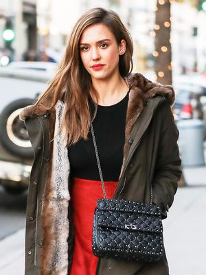 Jessica Alba's Edgy Take on Tights Is So, So Good