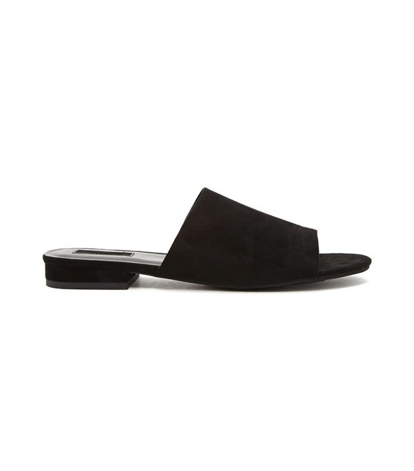 Forever 21 Faux Suede Slides
