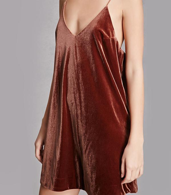 Forever 21 Velvet V-Neck Slip Dress