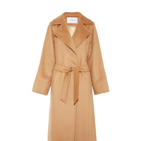 Belted Camel Hair Coat