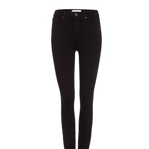 Paige Margot High Rise Skinny Jean in Black Shadow
