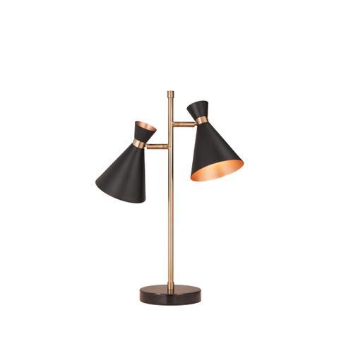Black & Copper Task Lamp