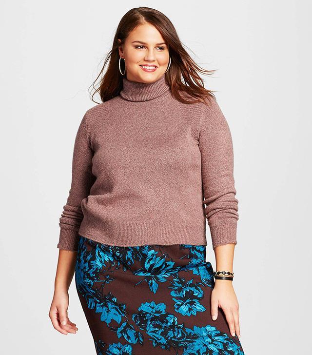 Who What Wear Plus Size Cozy Turtleneck Sweater