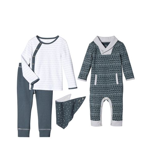 Baby Boys' Long Sleeve Romper