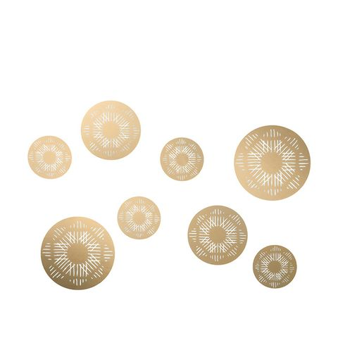 Gold Medallion Wall Decals
