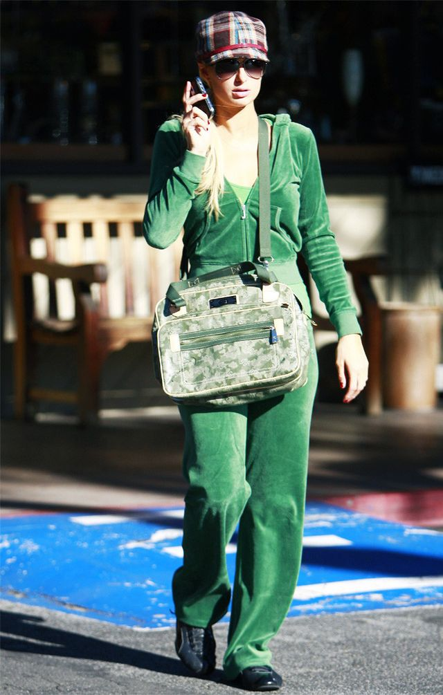 Paris Hilton in Juicy Couture tracksuit