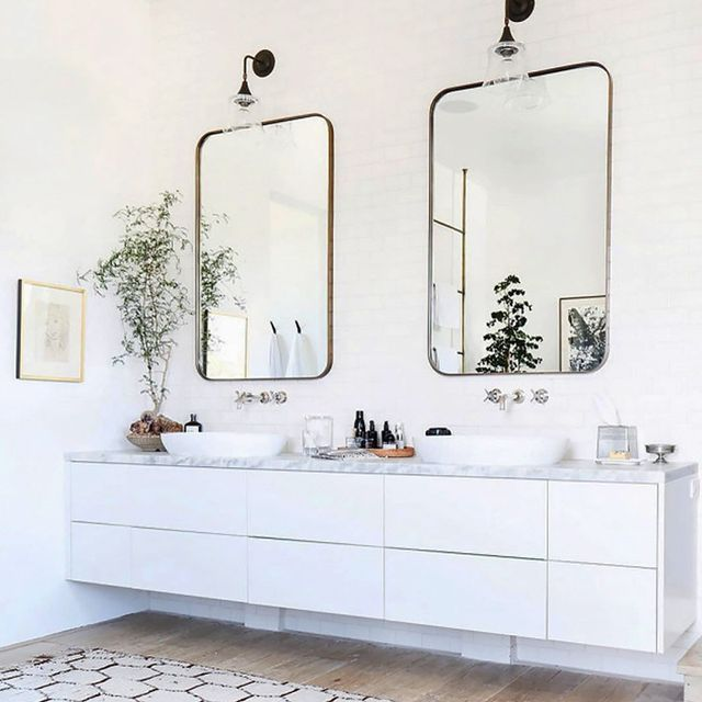 Step inside the dream home of 2017 mydomaine au for Bathroom mirror trends 2016