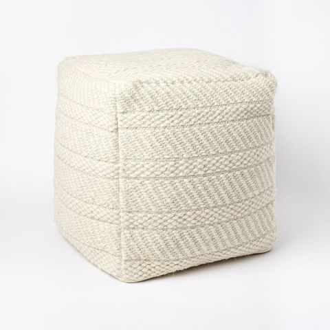 Cosy Weave Pouf