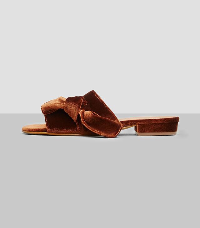 Kenneth Cole New York Candice Velvet Slide Sandals