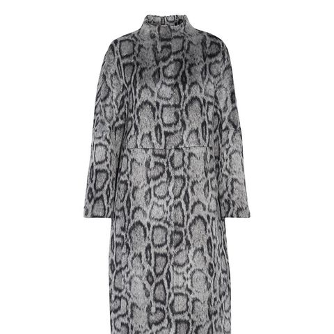 Balin Leopard-Print Faux Fur Coat
