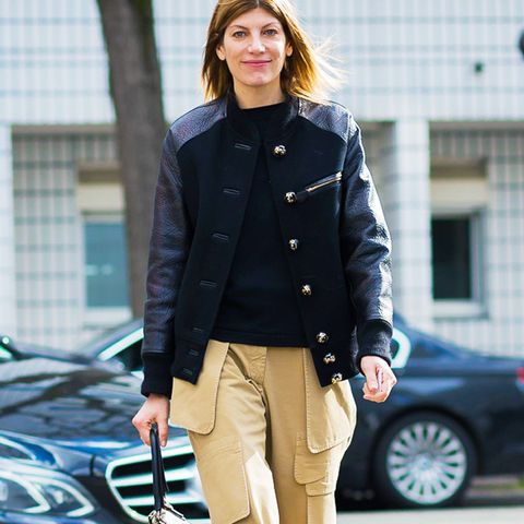 how to wear chinos: virginia smith in chinos