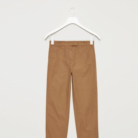 Straight Canvas Trousers