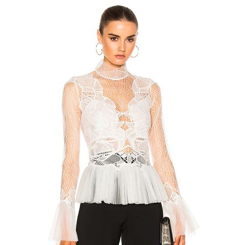 Linear Dome Pleated Top
