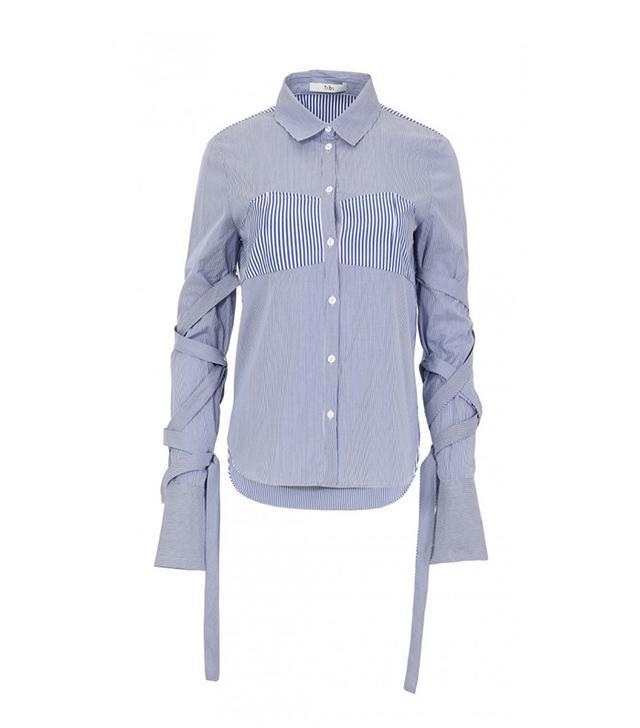 Tibi Men's Stripe Strappy Shirt