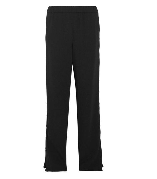 wide leg black trousers