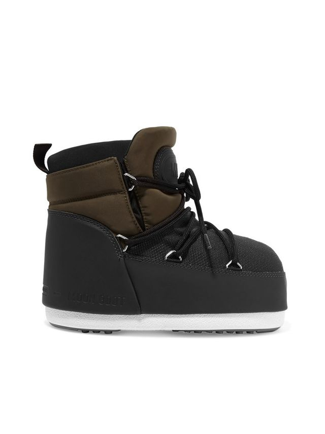 Moon Boot Buzz Shell and Faux Leather Snow Boots