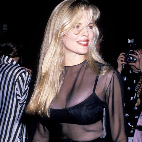 Kim Basinger in a sheer dress was classic eighties fashion