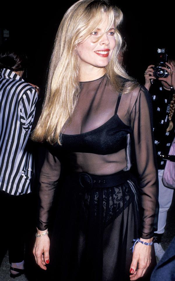 Eighties fashion: Kim Basinger in a sheer dress