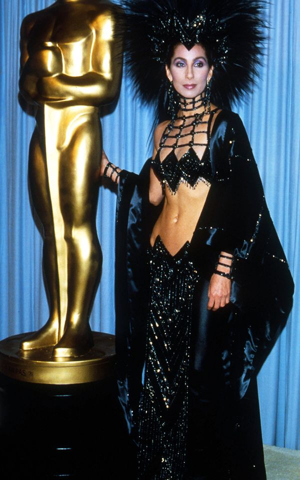 Eighties fashion: Cher in Bob Mackie at the Oscars