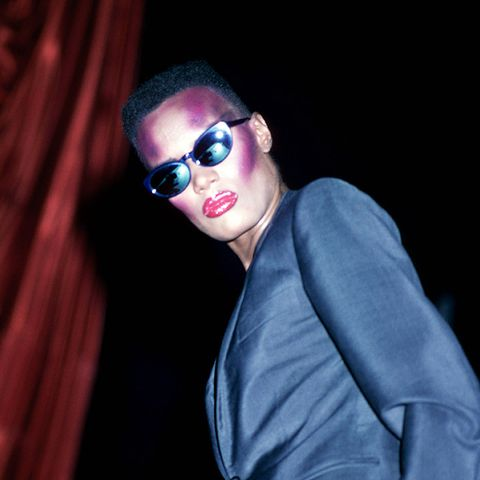Grace Jones knows a thing or two about eighties fashion